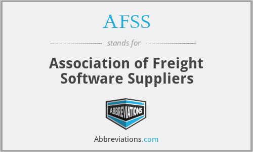 AFSS - Association of Freight Software Suppliers