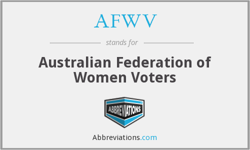 What does AFWV stand for?