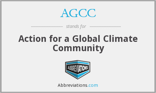 AGCC - Action for a Global Climate Community