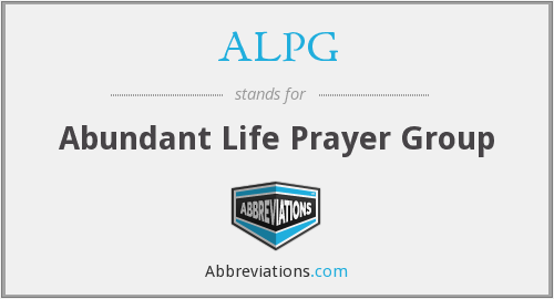 What does ALPG stand for?