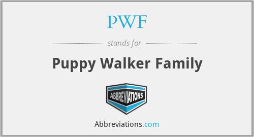 PWF - Puppy Walker Family