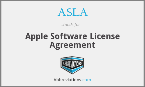 ASLA - Apple Software License Agreement