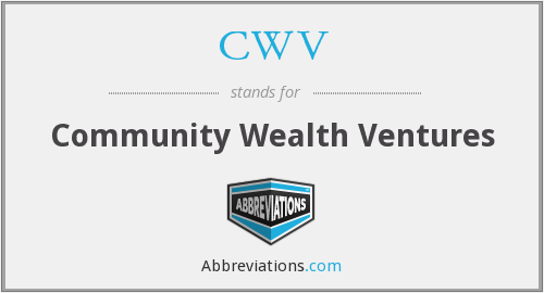 CWV - Community Wealth Ventures