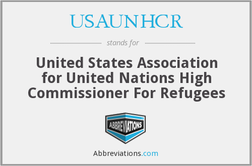 What does USAUNHCR stand for?