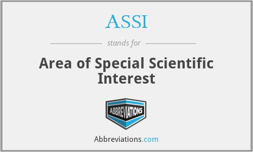 ASSI - Area of Special Scientific Interest