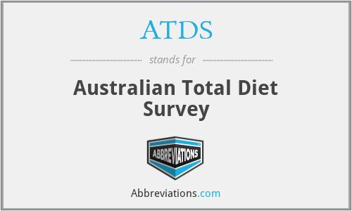 ATDS - Australian Total Diet Survey