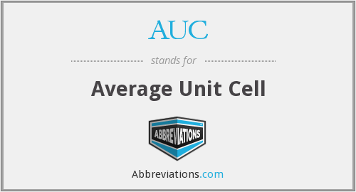 AUC - Average Unit Cell