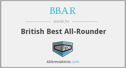 BBAR - British Best All-Rounder