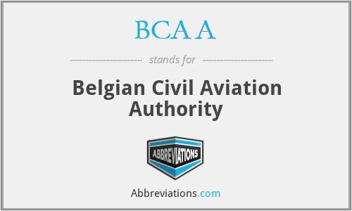 BCAA - Belgian Civil Aviation Authority