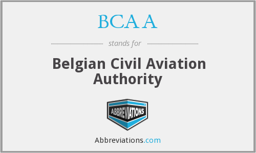 BCAA - Belgian Civil Aviation Authority