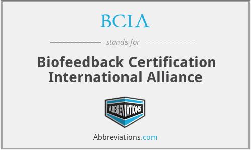 BCIA - Biofeedback Certification International Alliance