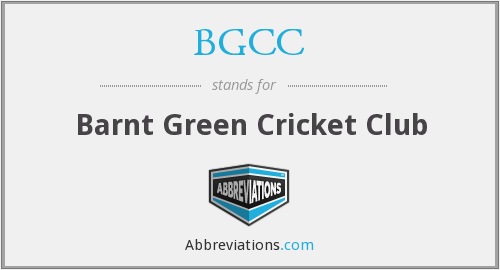 BGCC - Barnt Green Cricket Club