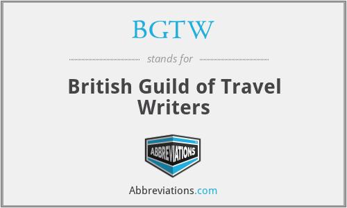 BGTW - British Guild of Travel Writers