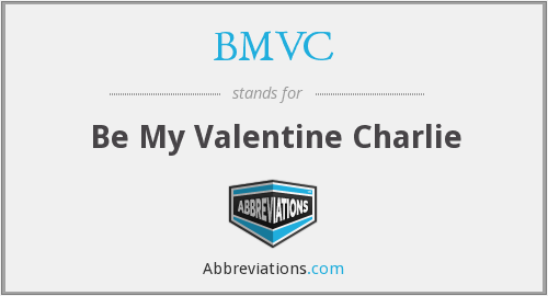 What does BMVC stand for?