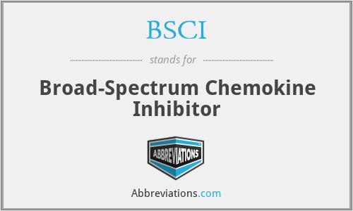 BSCI - Broad-Spectrum Chemokine Inhibitor