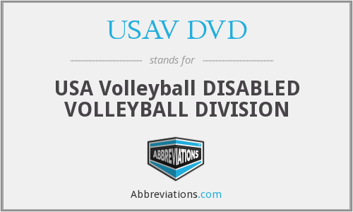 What does USAV DVD stand for?