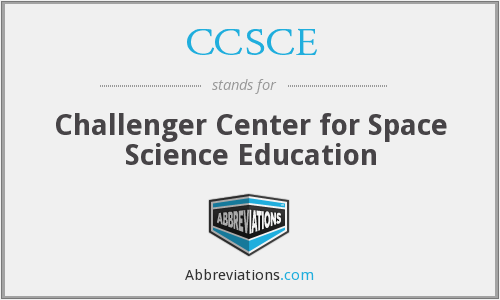 What does CCSCE stand for?