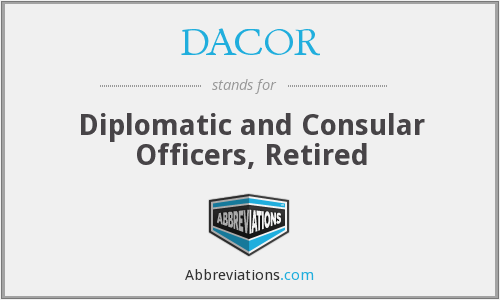 What does DACOR stand for?