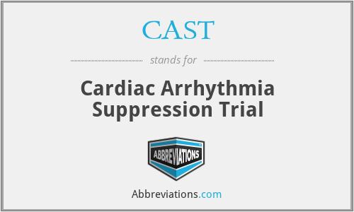 CAST - Cardiac Arrhythmia Suppression Trial