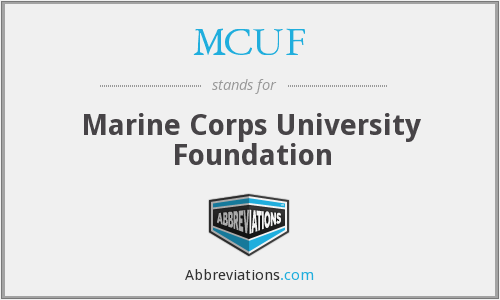MCUF - Marine Corps University Foundation