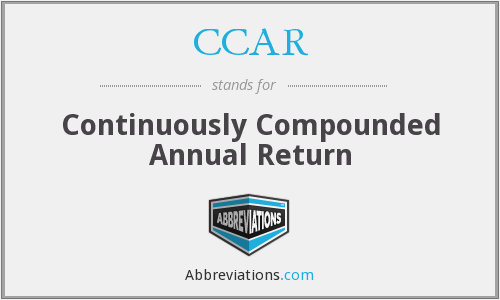 CCAR - Continuously Compounded Annual Return