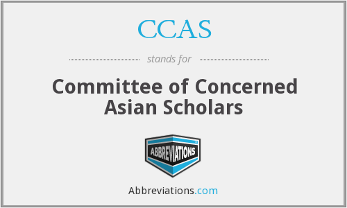 CCAS - Committee of Concerned Asian Scholars