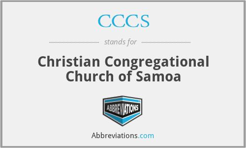 CCCS - Christian Congregational Church of Samoa