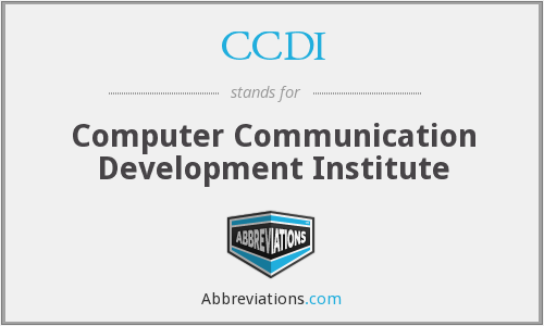 CCDI - Computer Communication Development Institute
