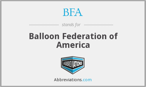 BFA - Balloon Federation of America