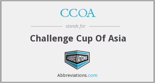 CCOA - Challenge Cup Of Asia