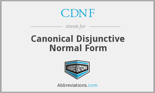 CDNF - Canonical Disjunctive Normal Form