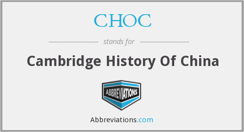 CHOC - Cambridge History Of China
