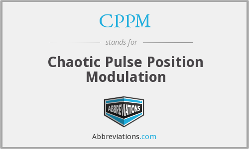CPPM - Chaotic Pulse Position Modulation