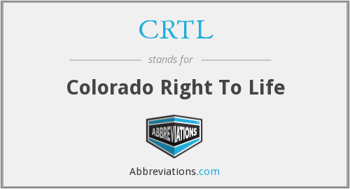 What does CRTL stand for?