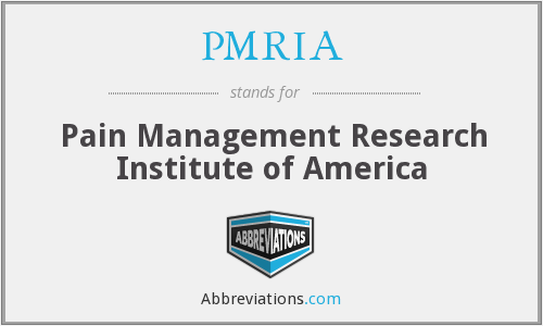 What does PMRIA stand for?