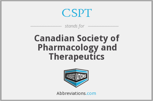 CSPT - Canadian Society of Pharmacology and Therapeutics