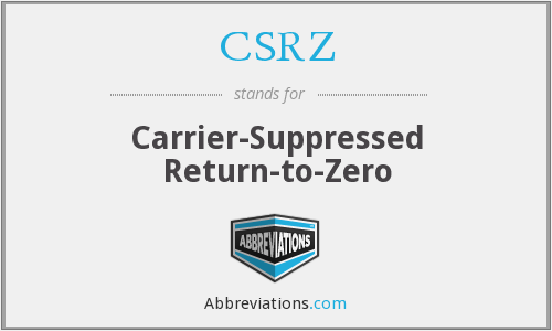 CSRZ - Carrier-Suppressed Return-to-Zero