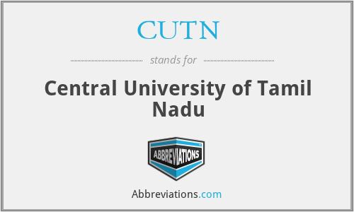 CUTN - Central University of Tamil Nadu