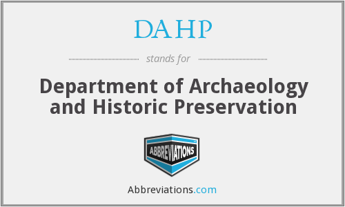 What does DAHP stand for?