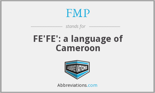 FMP - FE'FE': a language of Cameroon