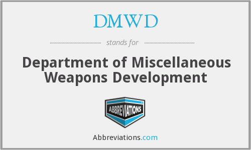 What does DMWD stand for?