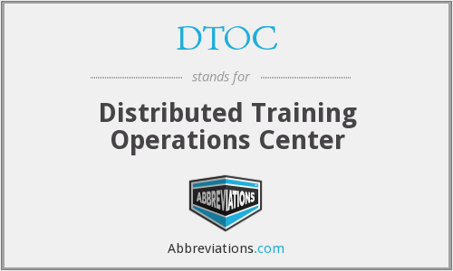 DTOC - Distributed Training Operations Center