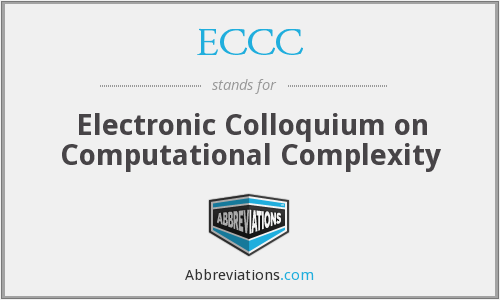 ECCC - Electronic Colloquium on Computational Complexity