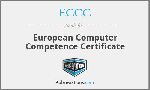 ECCC - European Computer Competence Certificate
