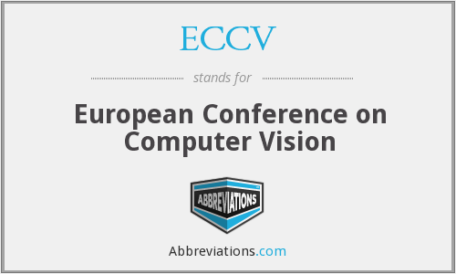 What does ECCV stand for?