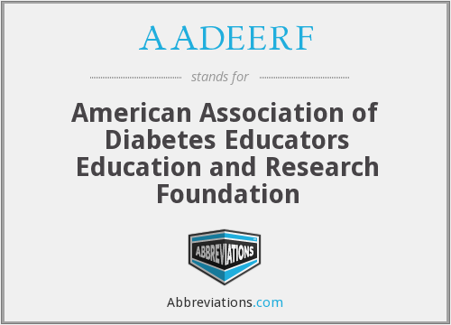 AADEERF - American Association of Diabetes Educators Education and Research Foundation