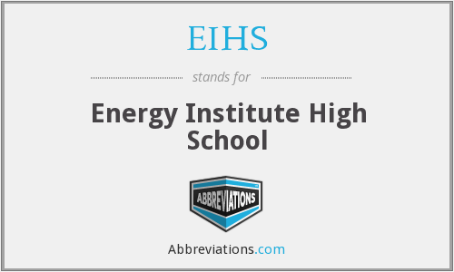 What does EIHS stand for?