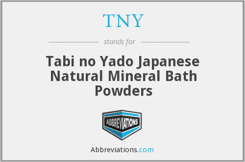TNY - Tabi no Yado Japanese Natural Mineral Bath Powders