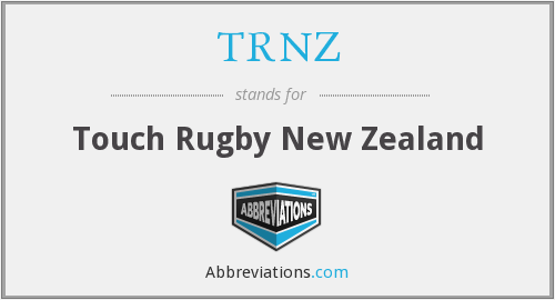 TRNZ - Touch Rugby New Zealand