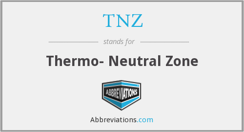 TNZ - Thermo- Neutral Zone
